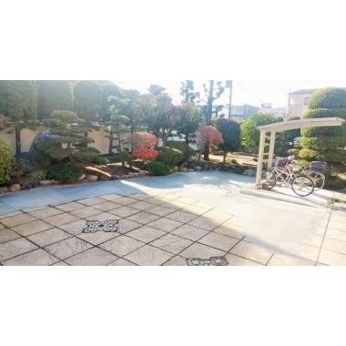 開放的なお庭