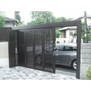 "<a href=""https://www.homepro.jp/garage/"" class=""replaced_keyword_link"" target=""_blank"">駐車場</a>を増設、開口を広くする為スライディングゲートへ"